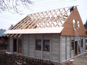Fertighaus Aufbau Obergeschoss